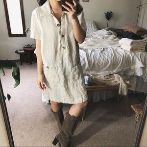 MATCH/ linen shift dress